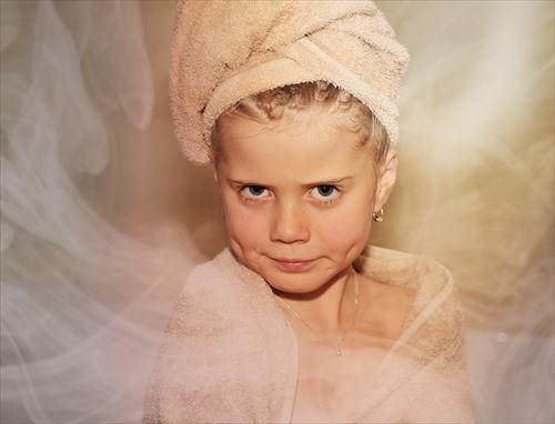 入浴で体の温まった女性