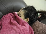 過眠症で眠る女性