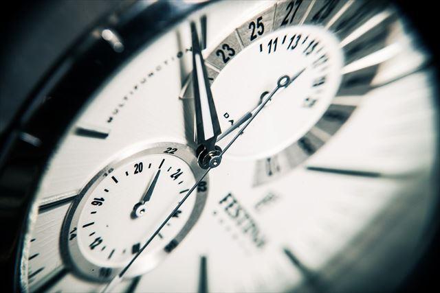 腕時計の文字盤アップ画像