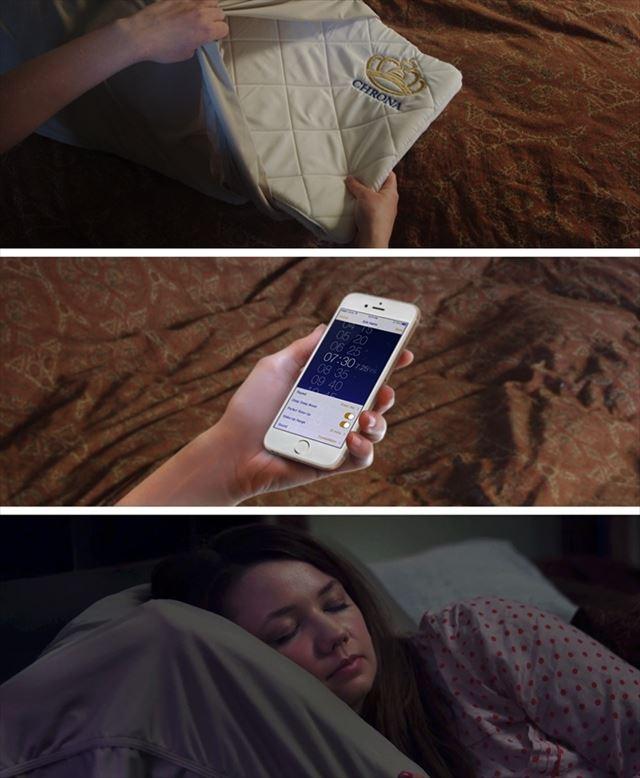 枕とスマホアプリで眠りの質を改善する睡眠システム「クローナ」の画像2