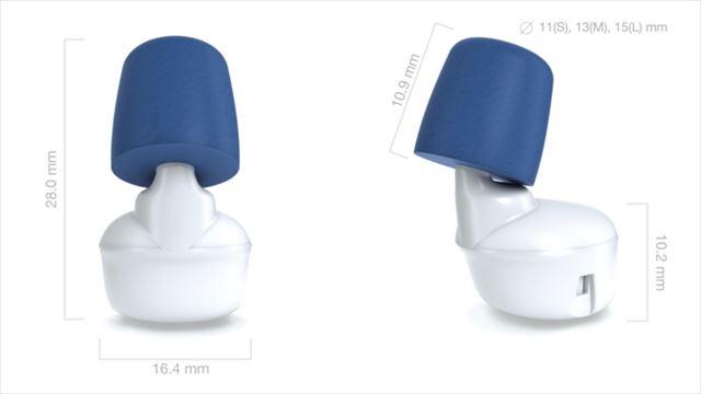 他機能搭載のスマート耳栓Hushの画像6