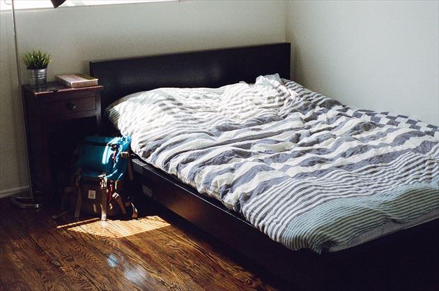 ダニが大量にひそむベッドの画像