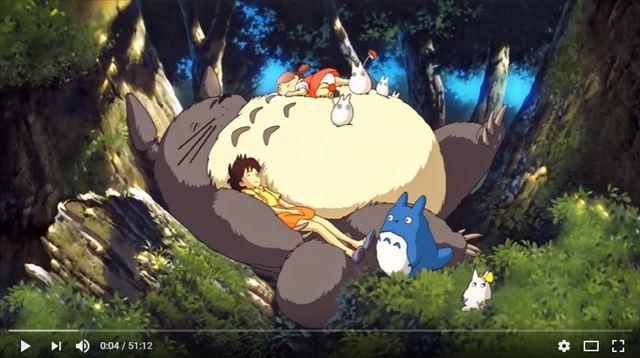 スタジオジブリ「となりのトトロ」の睡眠用オルゴール音楽動画のキャプチャ画像