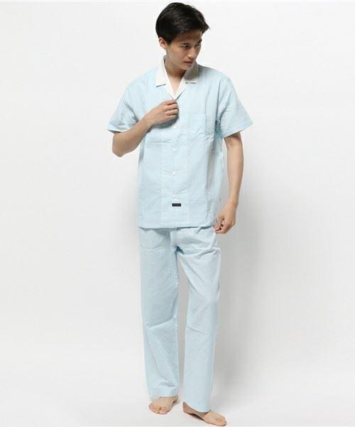 キッドブルー「14Wガーゼ水玉 -半袖パジャマ 」