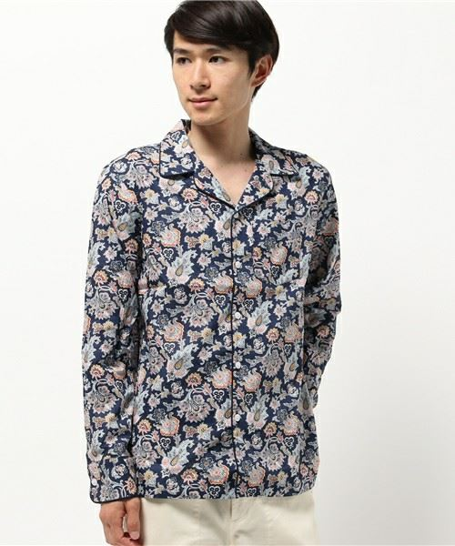 SLEEPY JONES(スリーピー・ジョーンズ)「開襟 長袖 パジャマシャツ」