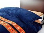 東京西川あったか機能寝具「HEAT WITH(ヒートウィズ)」掛けふとんカバーネイビーの画像