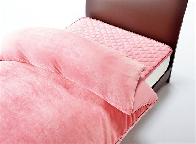 東京西川あったか機能寝具「HEAT WITH(ヒートウィズ)」掛けふとんカバーピンクの画像