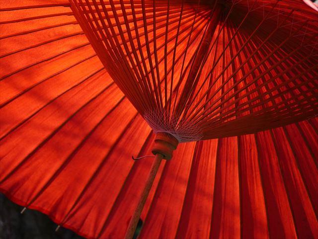 和の音楽が似合う番傘の画像