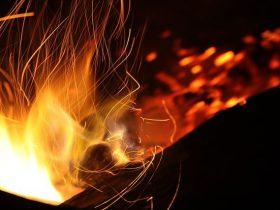 焚き火が燃えている画像1